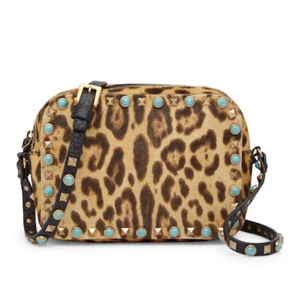 Valentino Handbags - ❌HOLD❌Valentino Rockstud Leopard Camera Bag